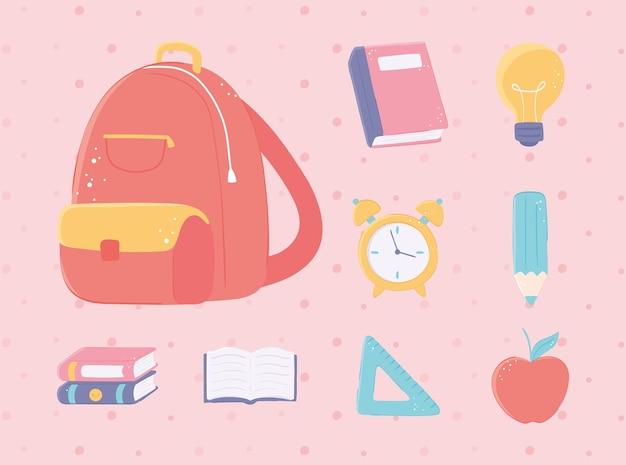 Ritorno agli oggetti della scuola