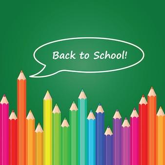 Torna a scuola sfondo di colore matita