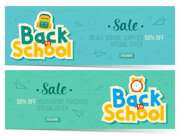 Torna a banner di vendita di scuola