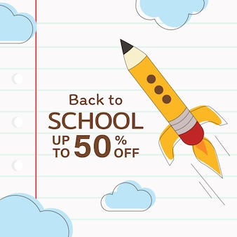 Sconto di vendita di ritorno a scuola