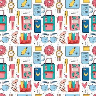 Torna a scuola seamless pattern
