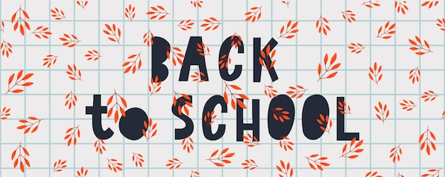 Torna a scuola doodles imprecisi con hand drawn.vector illustrazione foglie d'autunno, lettering. design elements background, background. festa degli insegnanti.
