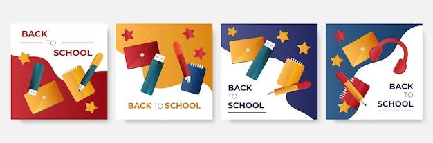 Torna a scuola promozione del modello di post sui social media