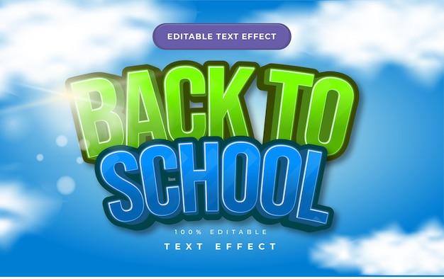 Ritorno a scuola effetto testo per illustrator