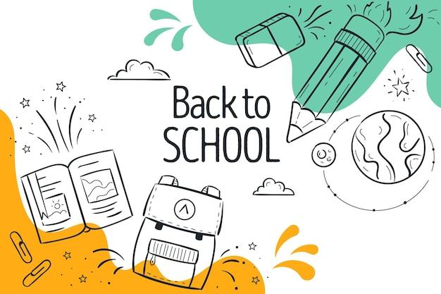 Sfondo di ritorno a scuola