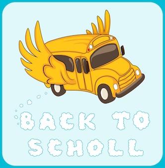 Ritorno a scuola autobus alato
