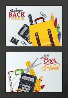 Torna a scuola con set di forniture