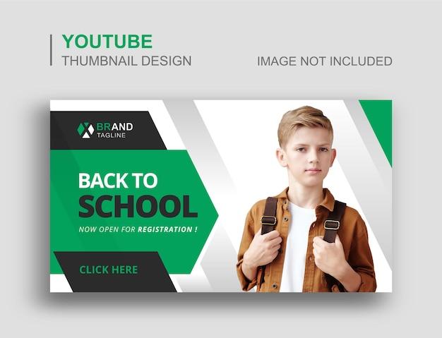 Torna a scuola miniatura youtube e design banner web