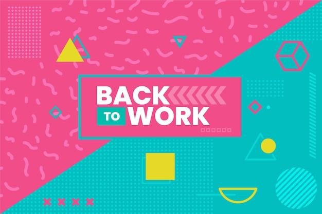 Ritorno al lavoro - sfondo di memphis