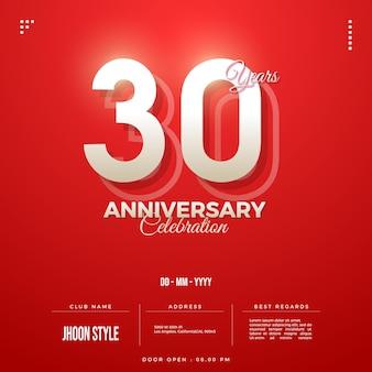 Sfondo invito alla celebrazione del 30 ° anniversario
