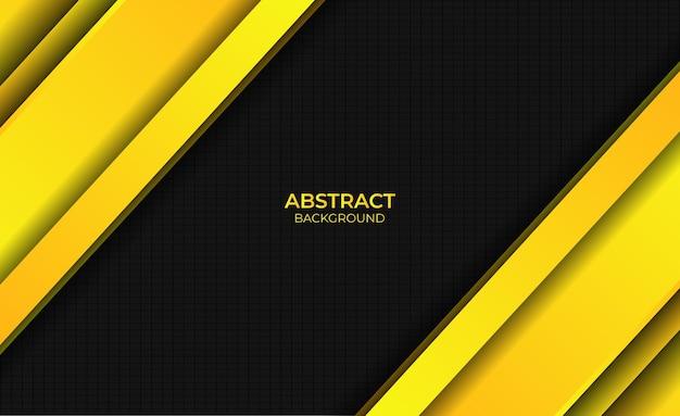 Sfondo astratto gradiente stile di design giallo brillante