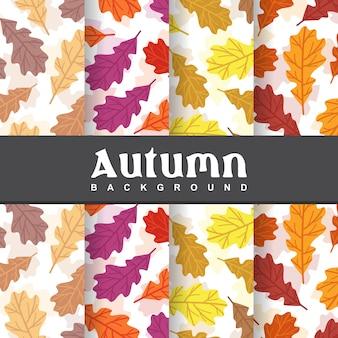 Fondo del modello senza cuciture della foglia di autunno