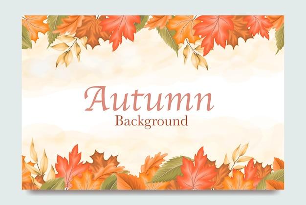 Sfondo foglie d'autunno