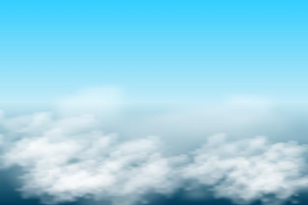 Sfondo del cielo azzurro con nuvole