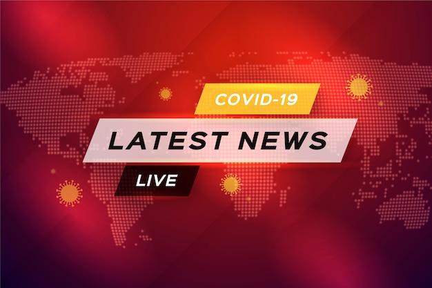 Sfondo per le ultime notizie sul coronavirus