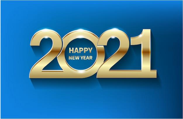 Celebrazione di sfondo 2021 capodanno nel presente magico postale. progettazione festiva 3d per il modello della decorazione di natale di festa