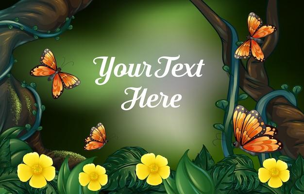 Disegno di sfondo per il testo di esempio con tema della natura
