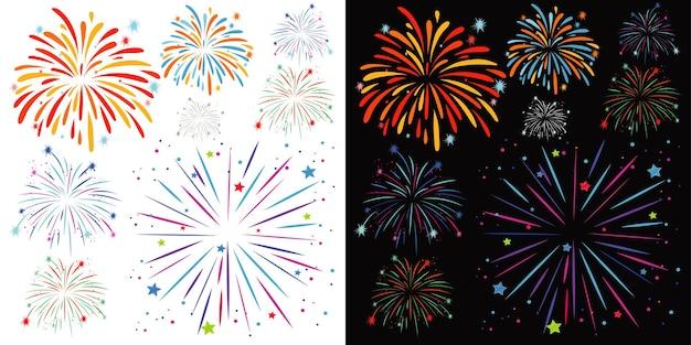 Sfondo con fuochi d'artificio