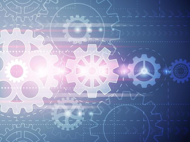 Ingranaggi di sfondo. cartello concettuale di tecnologia futura con illustrazione di ingegneria vettoriale di raccolta hot wheels wheels