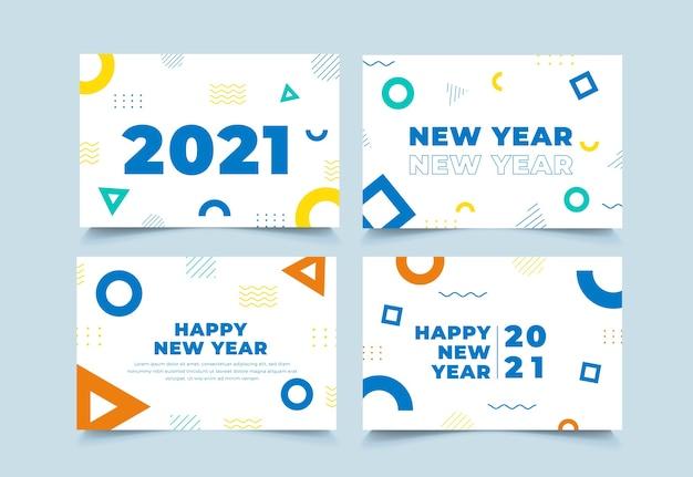 Sfondo geometrico nuovo anno 2021 collezione