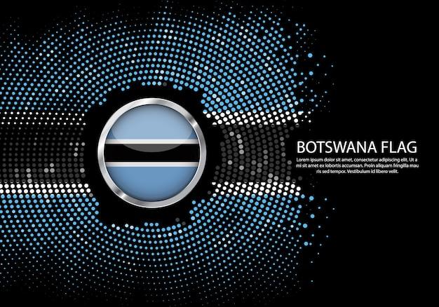 Modello di gradiente di mezzitoni sfondo della bandiera del botswana