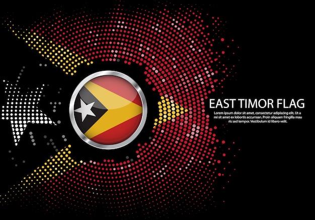 Modello di gradiente di mezzitoni sfondo della bandiera di timor est.