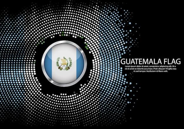 Modello di gradiente di mezzitoni sfondo della bandiera del guatemala.