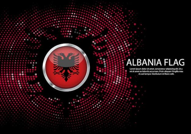 Sfondo mezzitoni modello sfumato o led luce al neon su stile rotondo punti di albania