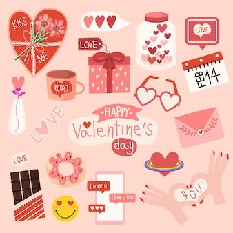 Sfondo disegno a mano regalo disegnato distintivo design felice elementi di cuore