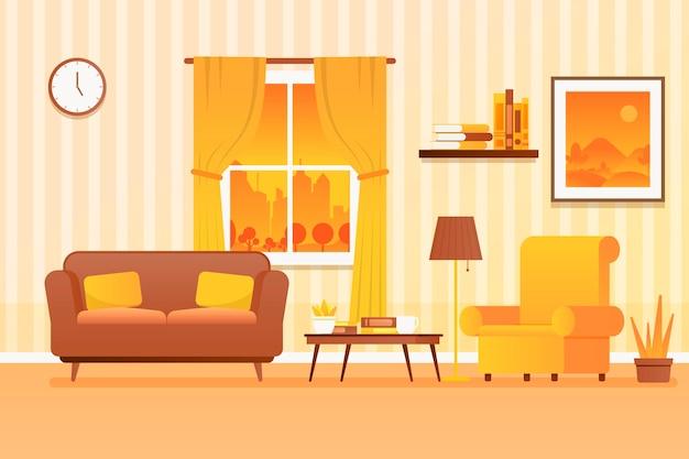 Decorazioni per la casa sullo sfondo per le videoconferenze