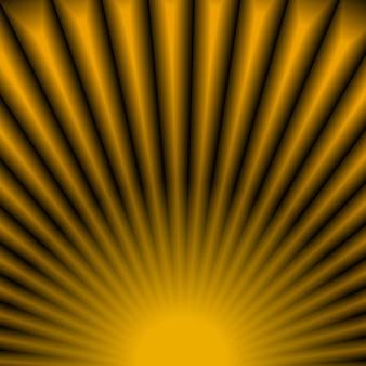 Sfondo di raggi luminosi arancioni. illustrazione .