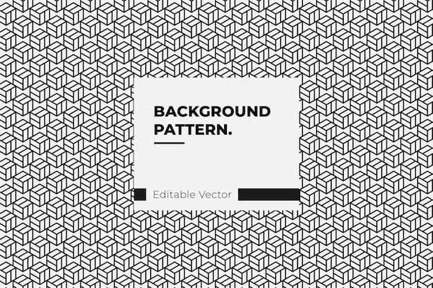 Sfondo seamless pattern cubo 3d geometrico.