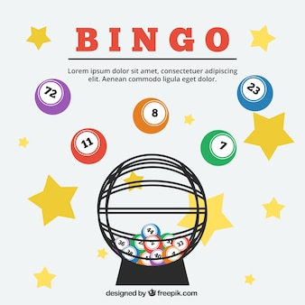 Sfondo di stelle e sfere di bingo