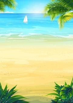 Vacanze estive di sfondo con il sole