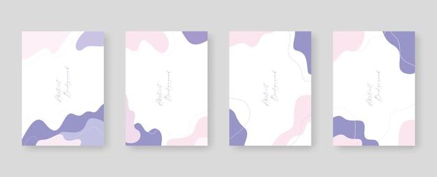 Modello di sfondo con spazio di copia per il design di testo e immagini da forme colorate astratte