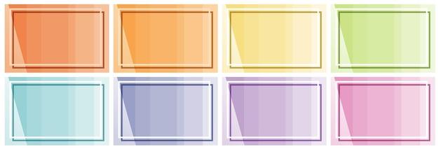 Modello di sfondo con diversi colori