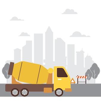 Sfondo della progettazione della costruzione di camion