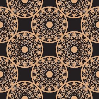 Sfondo in un modello di stile vintage. elemento floreale indiano. ornamento grafico per carta da parati, tessuto, imballaggio, confezionamento. ornamento floreale astratto cinese blu e nero.
