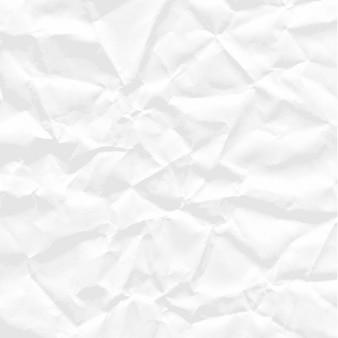 Sfondo di carta stropicciata bianca