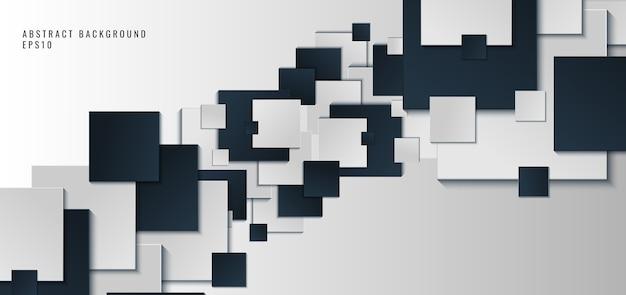Sfondo con forme quadrate blu e bianche