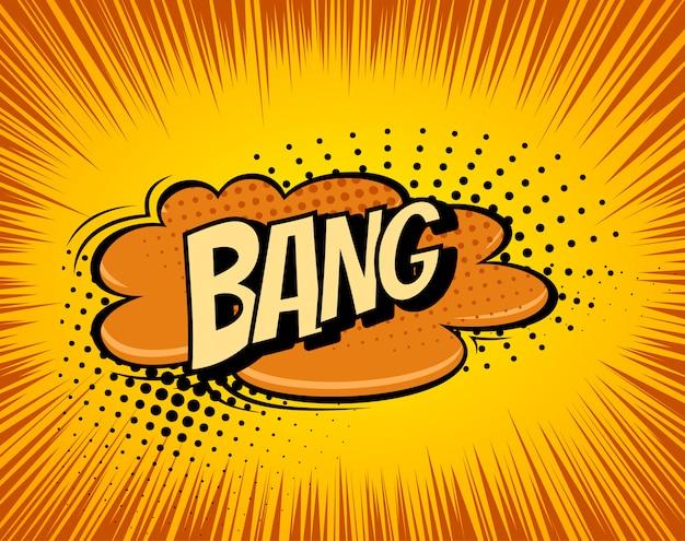 Sfondo con esplosione di fumetti boom