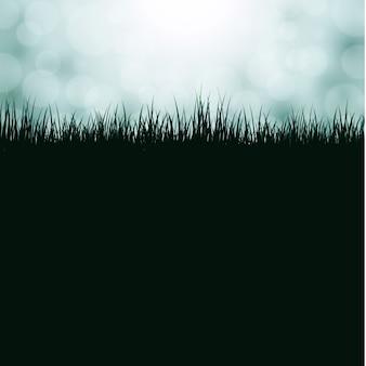 Sfondo con erba e bokeh
