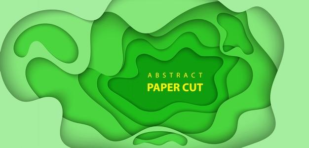 Sfondo con taglio di carta di colore verde