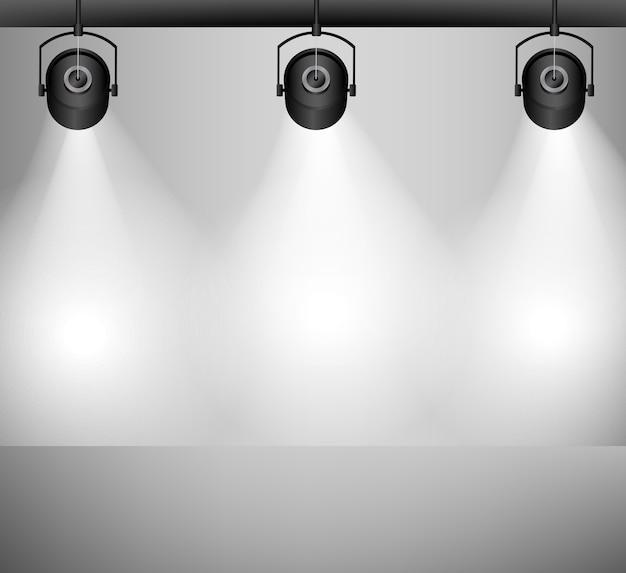 Sfondo con lampada di illuminazione
