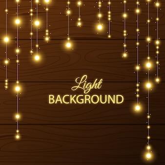 Sfondo con brillanti lampadine