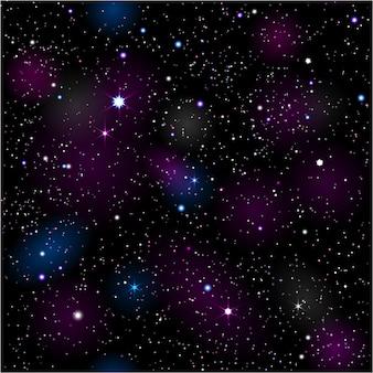 Sfondo con cielo notturno stellato