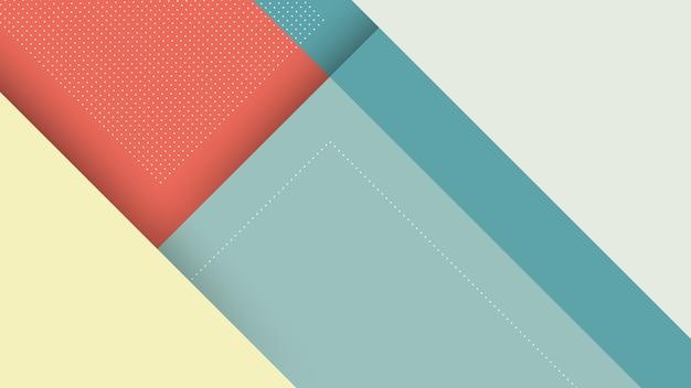 Sfondo con stile papercut triangolo e colori pastello rosso blu
