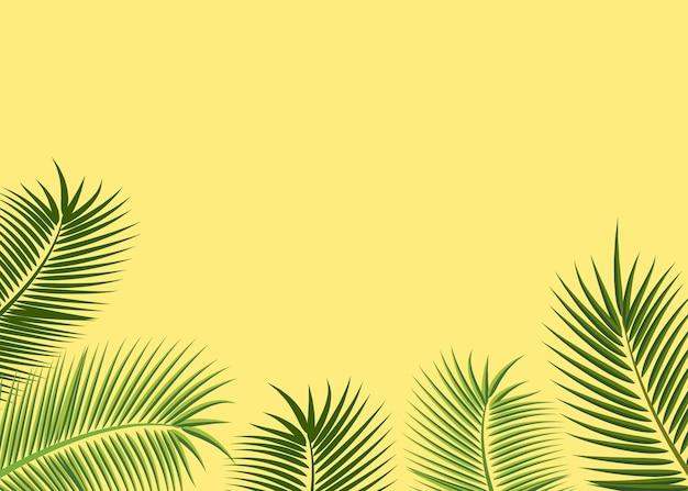 Sfondo con foglie tropicali