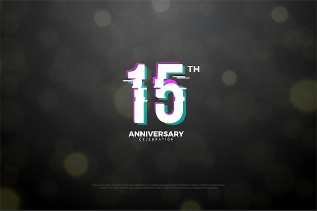 Sfondo per il tuo 15 ° anniversario con i numeri