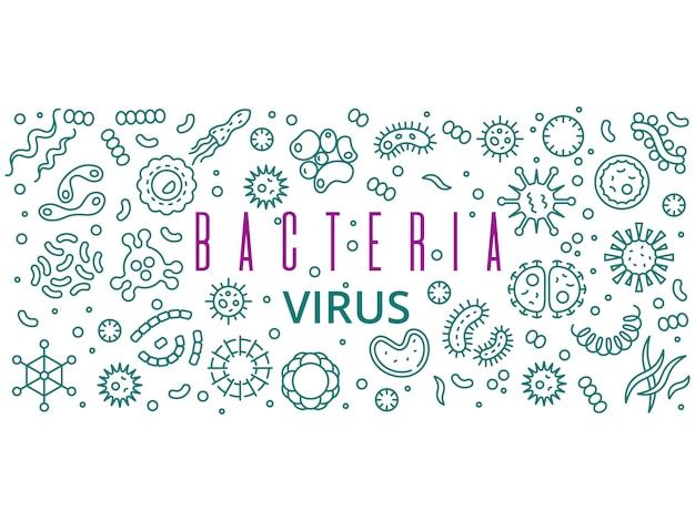 Banner di virus batterici